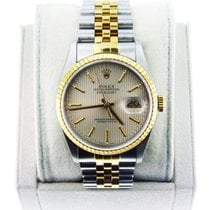 Rolex Datejust 16233 Gents Two Tone Oyster Tapestry Dial