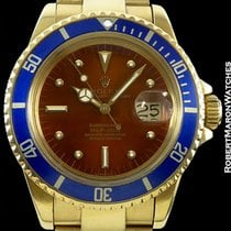 Rolex Tropical Submariner 1680 18k Patent Pending Clasp Box...