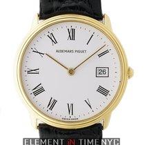 Audemars Piguet Classic Dress Watch 18k Yellow Gold White Dial