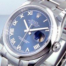 Rolex Datejust 116200 Steel 36 Mm Oyster Bracelet Blue Roman Dial