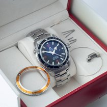 Omega Seamaster Planet Ocean 600M Co-Axial 45.5 with extra bezel