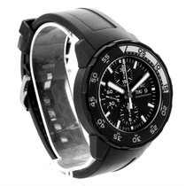 IWC Aquatimer Chronograph Black Rubber Strap Mens Watch...