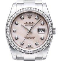 Rolex Datejust 36 Edelstahl Weißgold Diamant 116244 Pink Perlmutt