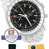 百年靈 (Breitling) Navitimer World GMT Stainless Black 46mm...
