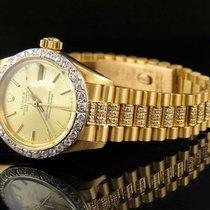 Rolex Ladies 26mm 18k Yellow Gold Rolex Datejust Presidential...