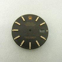 Rolex Datejust Gold 36 Mm Schwarzes Struktur Zifferblatt Dial...