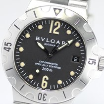 Bulgari SD38S Scuba Diagono 38mm in Steel - On Steel Bracelet...