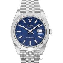 Rolex Datejust 41 Blue/Steel 41mm Jubilee - 126300