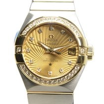 Omega Constellation 18k Gold Diamond Steel Gold Automatic...