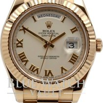 Rolex Day Date II President 218235 41mm Ivory White Dial 18k...