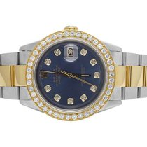 Rolex Datejust Two Tone 18K/ S.Steel 36MM Oyster Blue Dial...