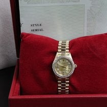 Rolex Ladies President Datejust 18k Yellow Gold 69178 Diamond...