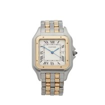 Cartier Panthere Jumbo Stainless Steel & 18k Yellow Gold...