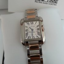 Cartier W5310036 Tank Anglaise 18K Pink Gold Steel Small Size...