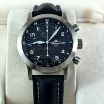 Tutima FX Chronograph Stainless steel UTC Black dial
