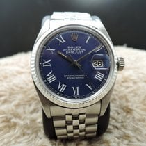 Rolex DATEJUST 1601 SS Blue Buckley Dial with Folded Jubilee