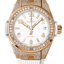 Hublot Big Bang 39mm One Click King Gold White Pave Watch