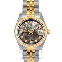Rolex Datejust Lady 31 Brown Steel/18k gold MOP Dia Jubilee...