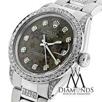 Rolex Diamond Rolex Date 34mm 5ct Brown Diamond Flower Dial...