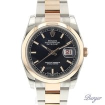 Rolex Datejust 36 Rolesor Everose Domed / Oyster / Black NEW