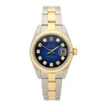 Rolex Datejust 79173 - Lady's Watch - Blue Diamond Dial -...