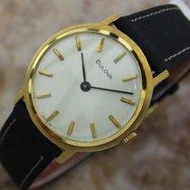Bulova Gold Plated Manual Wind Mens Classic 30mm 1970s Dress...