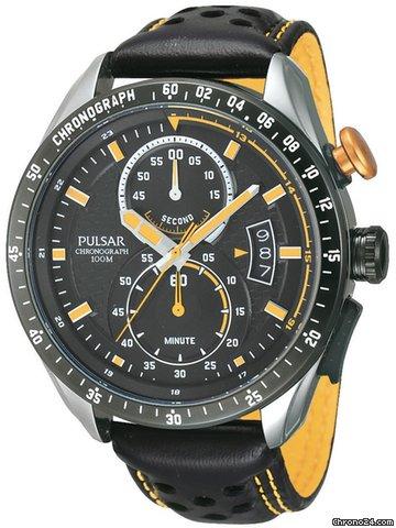 pulsar pw4007x1 herrenuhr chronograph schwarz gelb 10 atm f r 199 kaufen von einem trusted. Black Bedroom Furniture Sets. Home Design Ideas