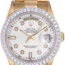 Rolex Day-Date President Men's 18k Yellow Gold Diamond...