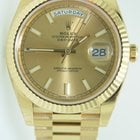 Rolex Day-Date latest m 40mm Yellow Gold,Unworn condition