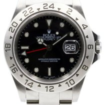 롤렉스 (Rolex) Explorer II 16570 Men's 40mm Black Dial...