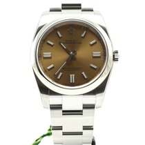 Rolex Oyster Perpetual steel automatic white grape dial NEW