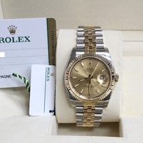 Rolex New Datejust 18K Yellow Gold & Steel Box & Papers