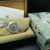 Rolex DATEJUST 1601 SS ORIGINAL Grey Dial with Box and Paper