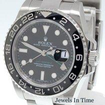 Rolex Mens GMT MASTER II Steel Ceramic Watch Box/Papers 116710