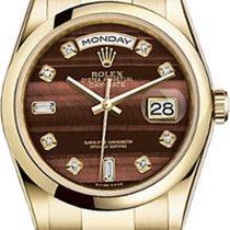 Rolex Day-Date 36 118208-BLSDO Bull's Eye Dial Diamond...