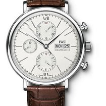 IWC Portofino Chronograph Stainless Steel Silver Dial