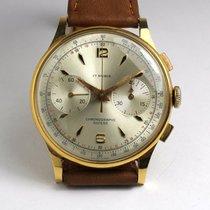 Chronographe Suisse Cie Chronograph, 18 ct. gold, vintage, 50s