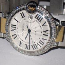 Cartier Ballon Bleu XL 18K Gold Automatic Diamonds
