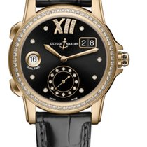 Ulysse Nardin CLASSIC DUAL TIME LADY Pink Gold Dial Black...
