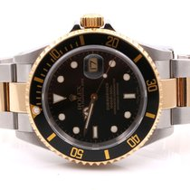 Rolex Mens 18K/SS Submariner - Black Dial - Oyster Band -...