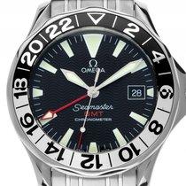 Omega Seamaster GMT 50 Jahre Jubiläum Stahl Automatik Armband...