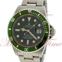 Rolex Submariner, Black Dial, Green Bezel - Stainless Steel on...