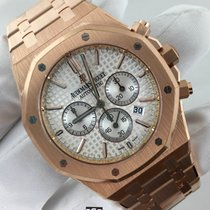 Audemars Piguet Royal Oak Chronograph Rose Gold White Dial