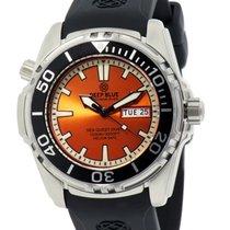 Deep Blue Sea Quest Diver 1000 Day/date Diving Watch Orange...
