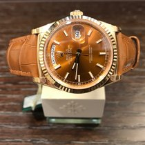 Rolex Day-Date Cognac Dial Gold 118138