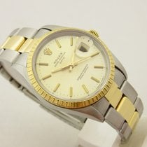 Rolex Date acciaio/oro ref 15233 box & papers full set