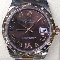Rolex Datejust Ladies Midsize Two Tone Diamond Domed Bezel...