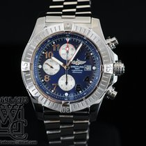 Breitling SUPER AVENGER BLUE DIAL 48MM STEEL WITH STEEL BEZEL