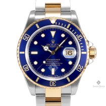 Rolex Submariner Steel and Gold Blue Index Dial Blue 60min...