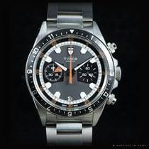 帝陀 (Tudor) Heritage Chrono ref. 70330N Grey dial full set